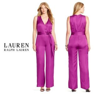 NWT Ralph Lauren Purple Charmeuse Jumpsuit size 4